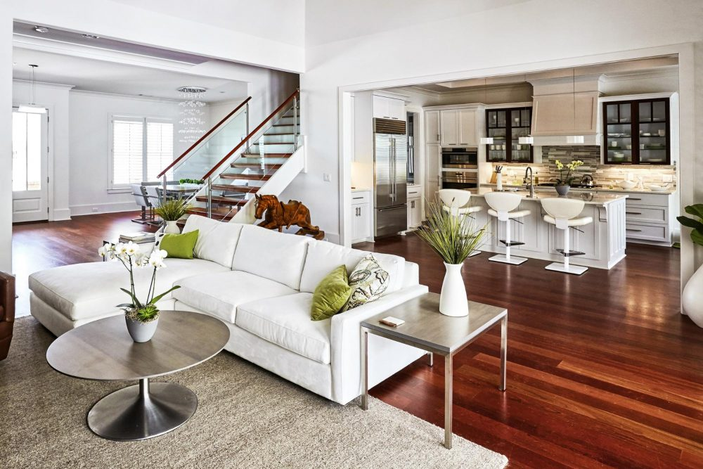 modern home with new flooring after Atlanta home renovation